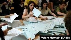 Подсчёт голосов на выборах президента в самопровозглашенной Республике Абхазия.
