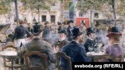 Люі Анэ Сабат'е, «Сцэна ў парыскай кавярні» (1884).