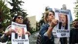 Jamal Kkashoggi-nin yoxa çıxmasına etiraz aksiyası. İstanbul. 2 oktyabr.2018.