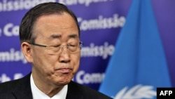 Sekretari i përgjithshëm i Kombeve të Bashkuara, Ban Ki-mun, 16 prill 2012.