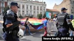 Гей-парад у Белграді, Сербія, 18 вересня 2016 року