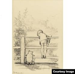 """Рисунок Эрнеста Говарда Шепарда, проданный на аукционе """"Сотбис"""" почти за полмиллиона долларов"""