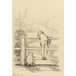 Иллюстрация Э. Шепарда к сказке о Винни Пухе