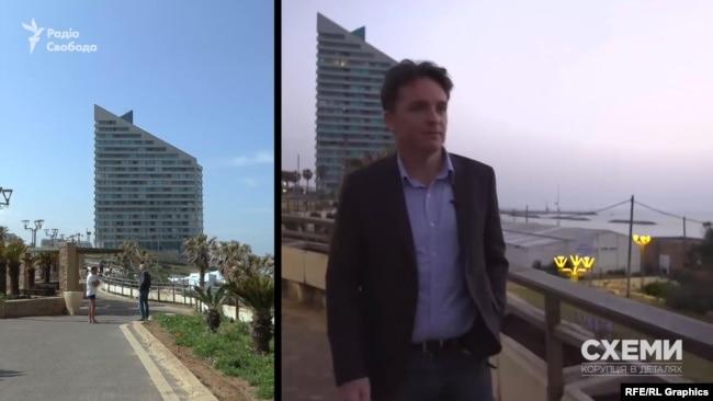 Біля одного з готелів Герцлії Коломойський зустрічався із журналістом BBC у березні 2019-го