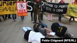 Protest organizat de Amnesty International Moldova, în faţa ambasadei Chinei la Chişinău, 30 martie 2011