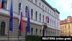 Pallati presidencial në Slloveni.