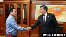 Президент Сооронбай Жээнбеков принял министра внутренних дел Кашкара Джунушалиева, 21 июня 2018 г.