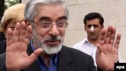 «Жасыл қозғалыс» басшысы Мир Хосейн Мусави. Тегеран, 29 мамыр 2009 жыл.