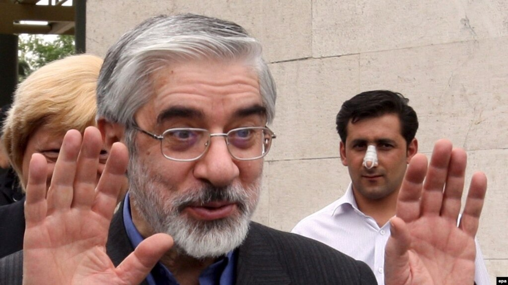 Mir-Hossein Musavi as a presidential candidate in 2009