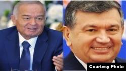 Ислам Каримов и Шавкат Мирзияев.