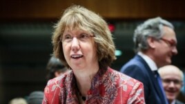 Еуропа Одағының сыртқы саясат жөніндегі жоғарғы комиссары Кэтрин Эштон. Брюссель, 12 желтоқсан 2013 жыл.