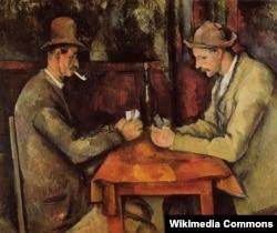 Kart oynayanlar. Paul Cezanne