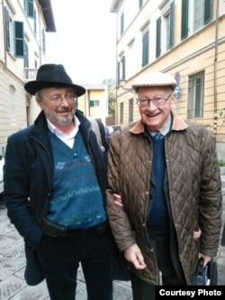 Михаил Талалай и Ренато Ризалити. Пиза. 2015. Фото Татьяны Критской.