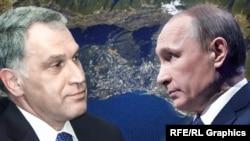 Юрий Ковальчук и Владимир Путин (коллаж)