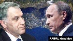 Владимир Путин и Юрий Ковальчук, коллаж