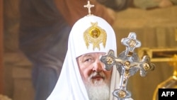 Мәскеу және Ресей патриархы Кирилл. 16 тамыз 2012 жыл.
