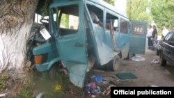 Место аварии со смертельным исходом. Фото предоставлено УВД по Иссык-Кульской области