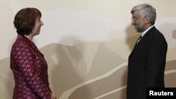 Кэтрин Эштон и глава иранской делегации Саид Джалили