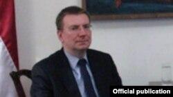 ЕҚЫҰ-ға төрағалық етуші Латвия сыртқы істер министрі Эдгар Ринкевич.