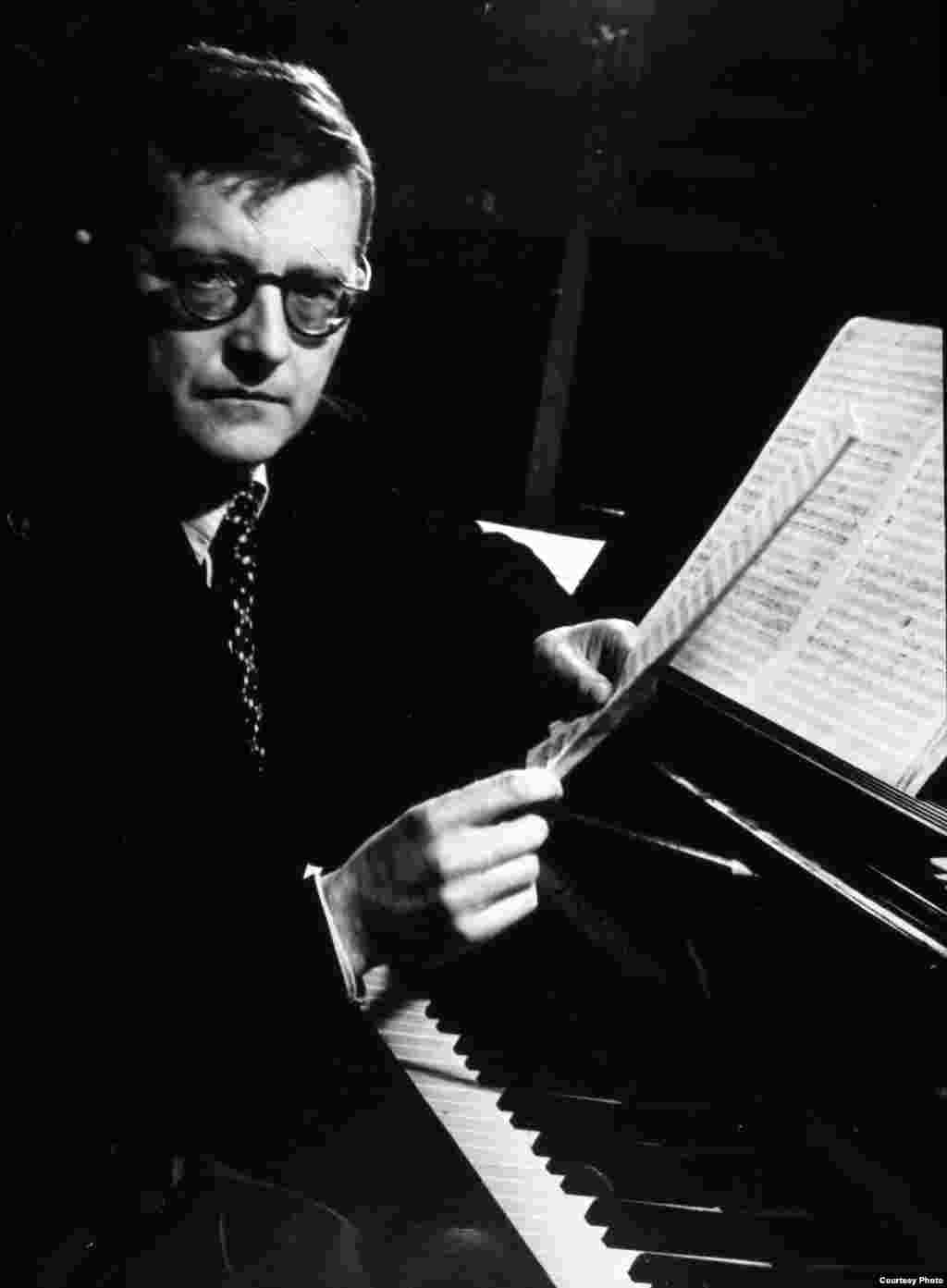 Dmitry Shostakovich at the piano in Moscow, 1951