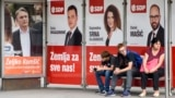 Bosnia and Herzegovina -- Pre-election posters for the General Elections in Bosnia and Herzegovina which will be held on October 7, 2018 (poster, policy, politician, politicians), in Sarajevo, September 21, 2018.