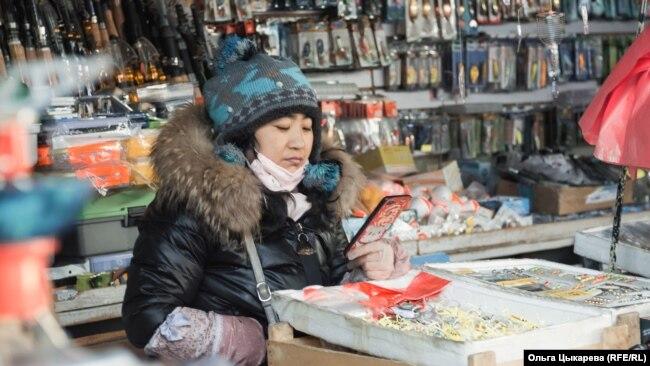Китайский предприниматель на рынке Хабаровска