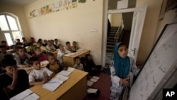 FILE: Around 1,000 schools across Afghanistan have been closed due to conflict, according to the country's Education Ministry.