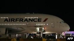 Pamje e një aeroplani të kompanisë Air France