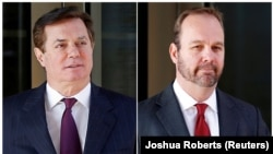 Rick Gates (right) is the former deputy and business partner to Paul Manafort, former campaign chairman for U.S. President Donald Trump.