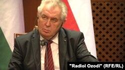 Чехия президенті Милош Земан. Душанбе, 26 қараша 2014 жыл.