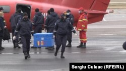 The vaccines arrived at Chisinau airport in a red air ambulance plane from Romania on February 27.