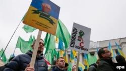 Митинг в защиту Корбана в Киеве