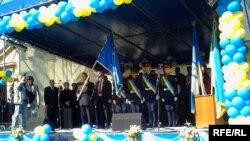 Під час церемонії урочистого вручення Івано-Франківську Почесного прапора ПАРЄ