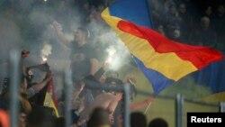 Suporteri moldoveni la un meci pe stadionul Zimbru din Chișinău (imagine de arhivă)