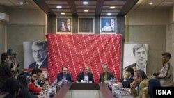 نشست خبری اورهان پاموک در مجموعه فرهنگی کاخ نیاوران برگزار شد.