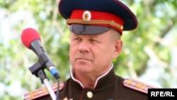 Қазақстан казактарының жоғарғы атаманы Юрий Захаров. Алматы, 2010 жылдың мамыры.