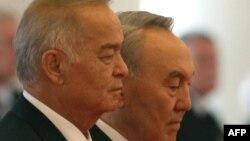 Өзбекстан президенті Ислам Каримов пен Қазақстан президенті Нұрсұлтан Назарбаев.