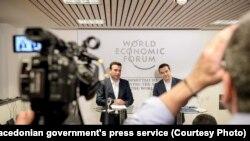 Премиерите на Македонија и Грција, Зоран Заев и Алексис Ципрас во Давос, Швајцарија