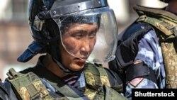 Полицейские на митинга оппозиции. Москва, 27 июля 2019 года