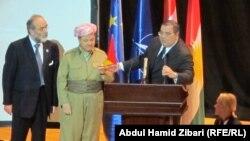 مراسم تقديم جائزة مؤسسة البحر الأبيض المتوسط للسلام الى مسعود بارزاني