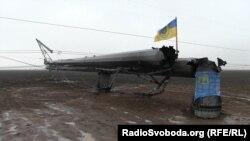 Лінія електропередач, пошкоджена під час енергоблокади Криму