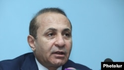 Armenia - Prime Minister Hovik Abrahamian speaks in Yerevan, 30Jun2014.