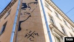 Портрет Хармса. Граффити в Петербурге