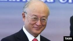 Халықаралық Атом энергетикасы агенттігі (МАГАТЭ) бас директоры Юкия Амано. Астана, 27 тамыз 2015 жыл.