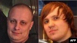 Яўген Багачоў (зьлева) і Аляксей Бялан - двое расейскіх грамадзянаў зь ліку датычных да кібэратакаў, фота з архіву ФБР.
