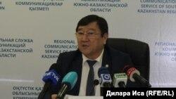 Руководитель областного управления Исатай Сагындыков. Шымкент, 15 февраля 2018 года.