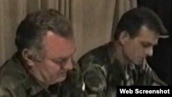 Janković i Mladić na pregovorima u hotelu Fontana 11. srpnja 1995. godine