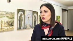 Armenia -- Deputy Justice Minister Srbuhi Galian speaks to RFE/RL, April 14, 2020.