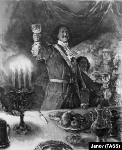 Петр Первый. Иллюстрация художника В. Серова