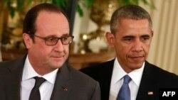 АКШ -- Барак Обама менен Франсуа Олланд. Вашингтон, 24-ноябрь, 2015.